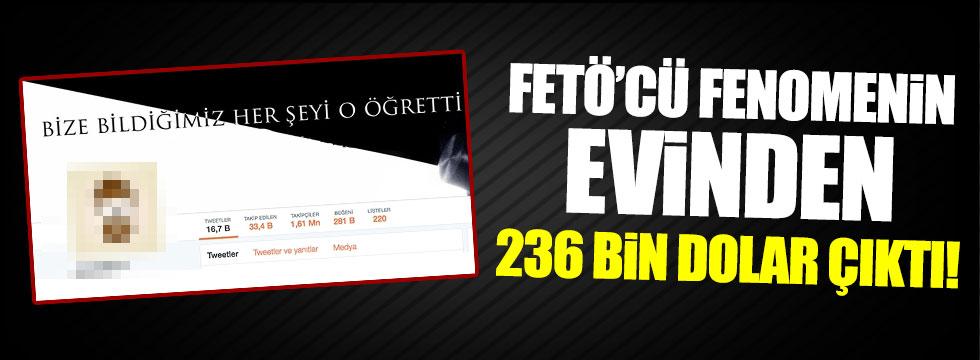FETÖ'cü Twitter fenomeninin evinden 236 bin dolar çıktı