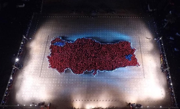 29 Ekim'e özel Türkiye haritası