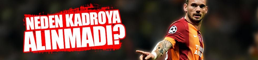 Sneijder neden kadroya alınmadı?