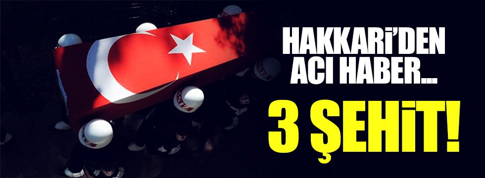 Çukurca'da hain saldırı: 3 asker şehit