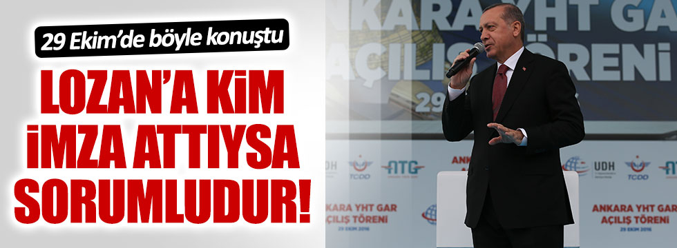 Erdoğan'dan 29 Ekim'de ilginç açıklama