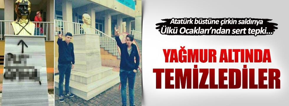 Trabzon Ülkü Ocakları'ndan Atatürk büstü saldırısına sert tepki!