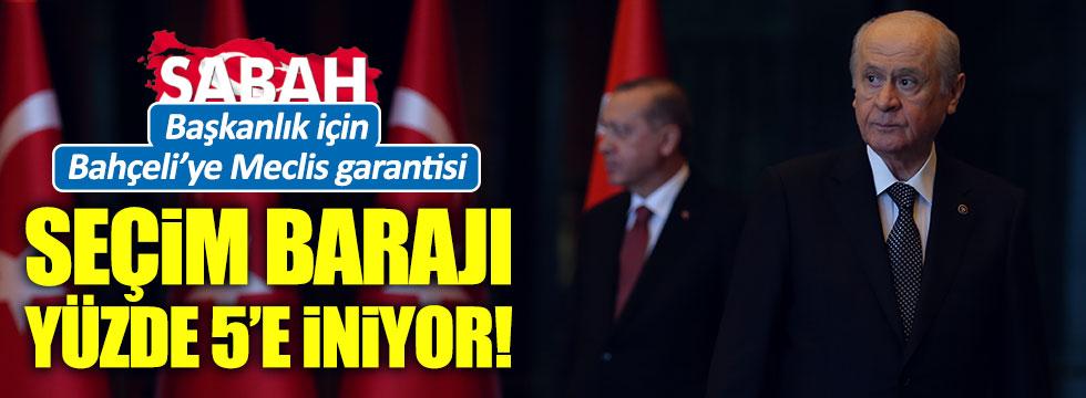 AKP'den Bahçeli'ye Baraj Jesti!