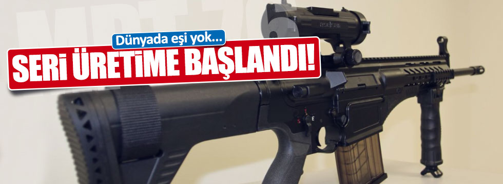 Milli Piyade Tüfeği'nin seri üretimine başlandı