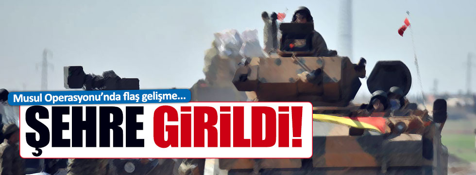 Irak güçleri Musul'a girdi