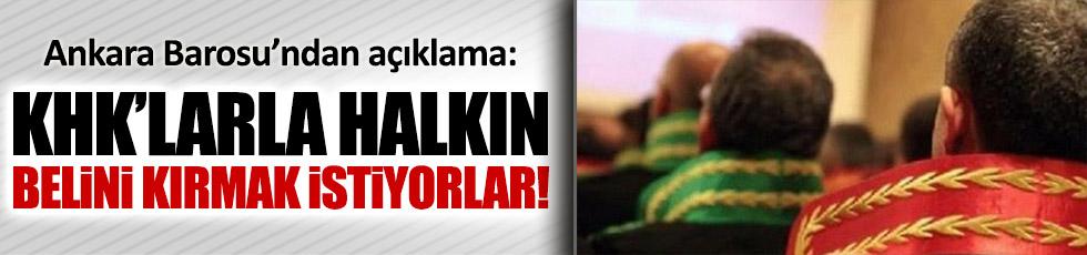 Ankara Barosu'ndan KHK açıklaması