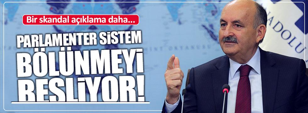 """Bakan Müezzinoğlu: """"Parlamenter sistem bölünmeyi besliyor"""""""