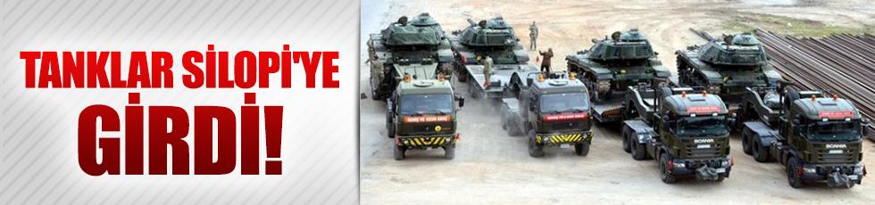 Tanklar Silopi'ye giriş yaptı