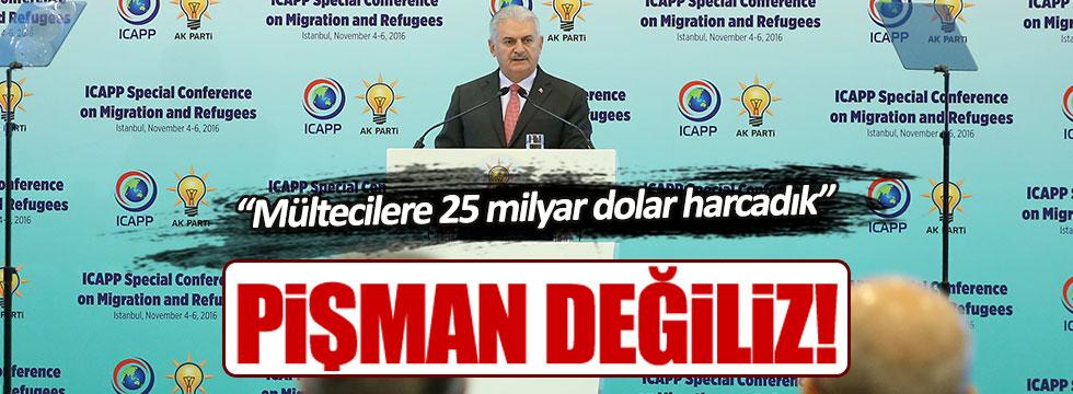 """Binali Yıldırım: """"Mültecilere 25 milyar dolar harcadık"""""""