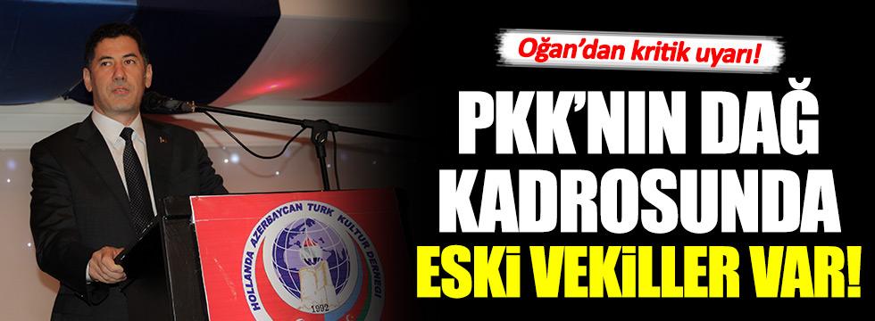 Sinan Oğan: PKK'nın dağ kadrosunda eski vekiller var