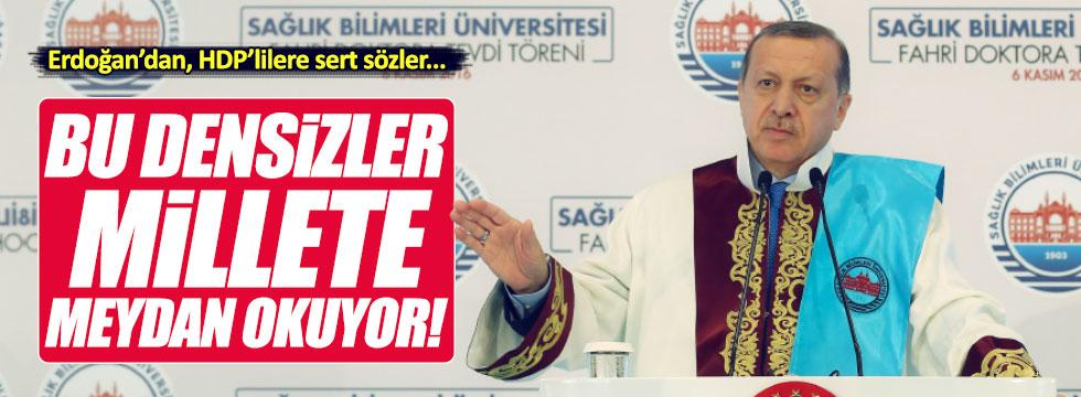 Erdoğan'dan HDP'ye çok sert sözler
