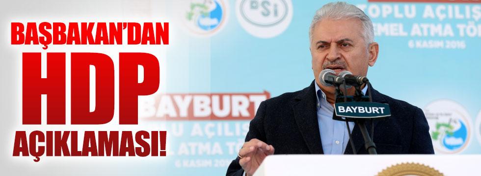 Başbakan'dan, HDP açıklaması