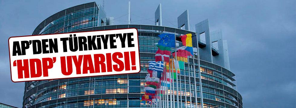 Avrupa Parlamentosu'ndan HDP uyarısı