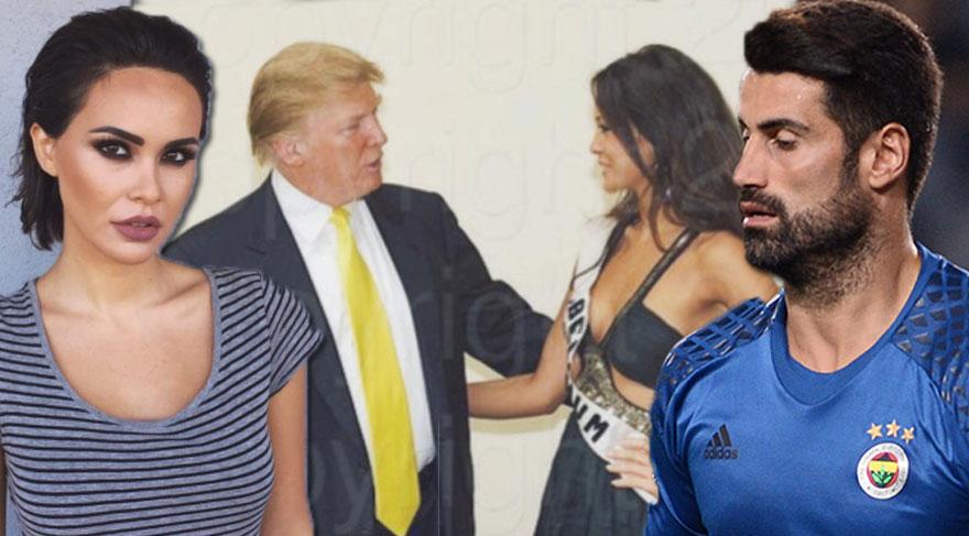 Kaleci Volkan'ın eşinden şaşırtan Trump paylaşımı