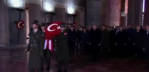 Liderler Anıtkabir'deki anma töreninde