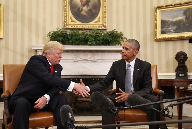 Obama ve Donald Trump Beyaz Saray'da görüştü