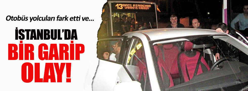 Kaçırılan kızı belediye otobüsü kurtardı