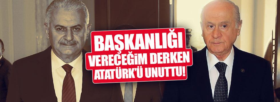 Bahçeli, Atatürk'ü böyle unuttu!