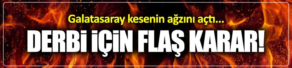 Galatasaray derbiye kilitlendi