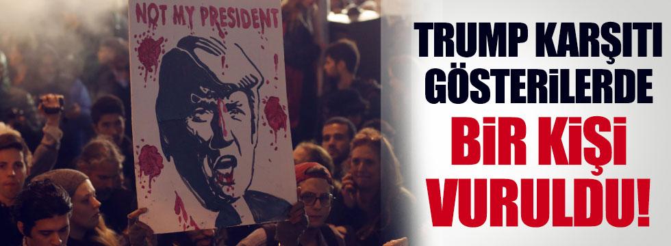 ABD'de Trump karşıtı gösterilerde bir kişi vuruldu