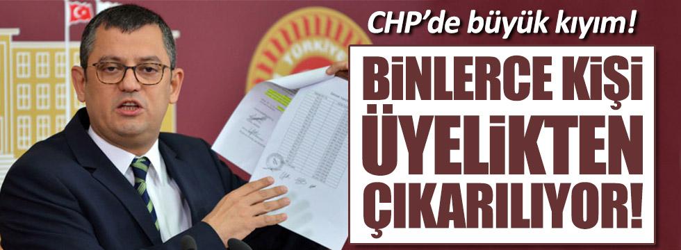 CHP'de binlerce kişi ihraç edilecek