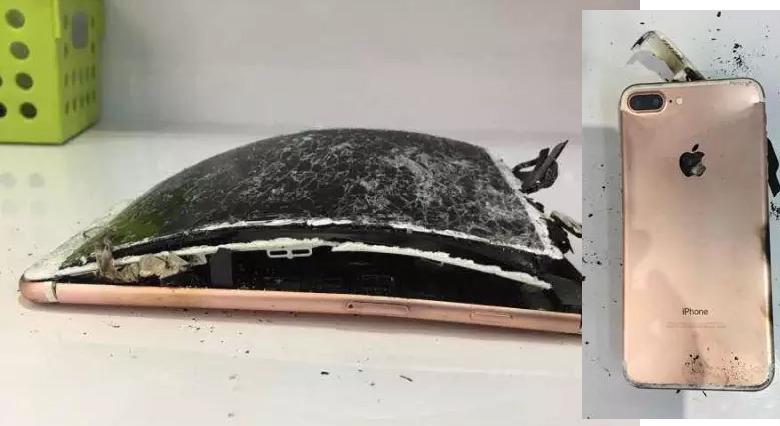 iPhone 7 Plus yanıp kül oldu!