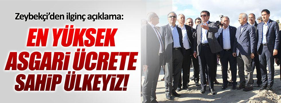 """Bakan Zeybekçi: """"En yüksek asgari ücrete sahip ülkeyiz"""""""