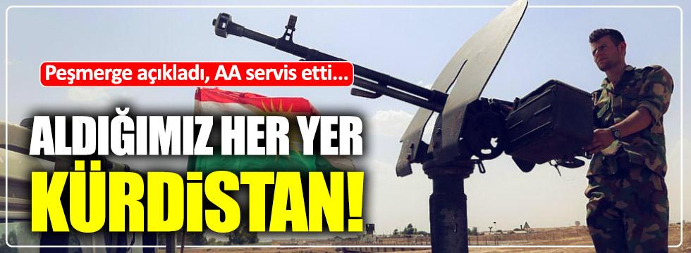 """Anadolu Ajansı'ndan skandal haber! """"Kontrol ettiğimiz her yer Kürdistan'dır"""""""