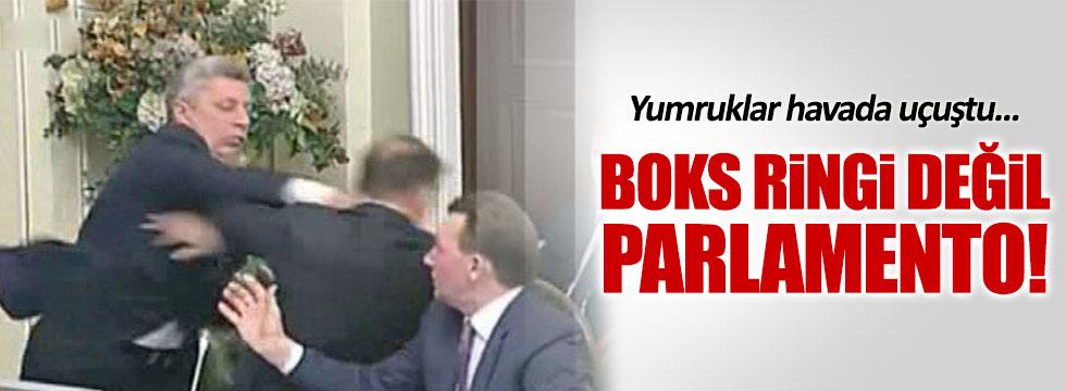 Parlamentoda yumruklar konuştu