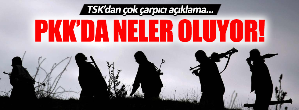 TSK'dan çok çarpıcı PKK açıklaması