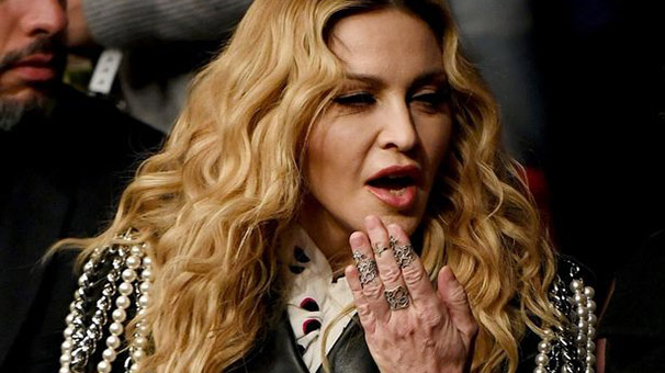 Madonna'nın görüntüsü şaşırttı!