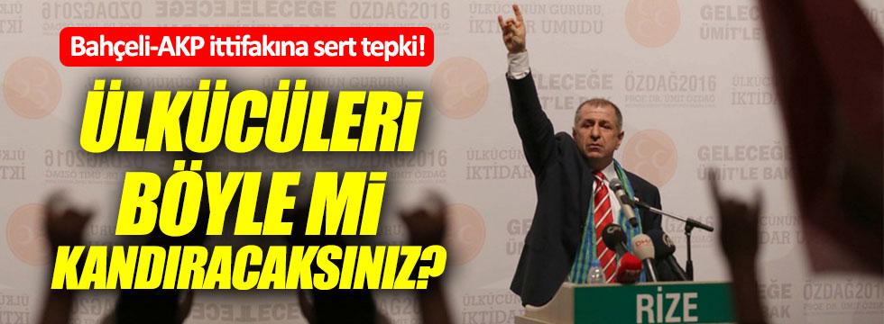 Ümit Özdağ'dan Bahçeli'ye çok sert gönderme!