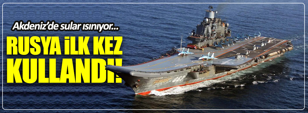 Rusya, uçak gemisi Amiral Kuznetsov'u Akdeniz'e indirdi