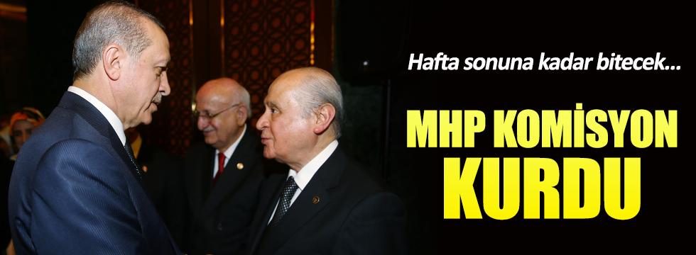 MHP komisyon kurdu, hafta sonuna kadar bitecek