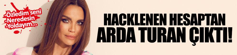 Hacklenen Ebru Şallı'nın hesabından Arda Turan çıktı