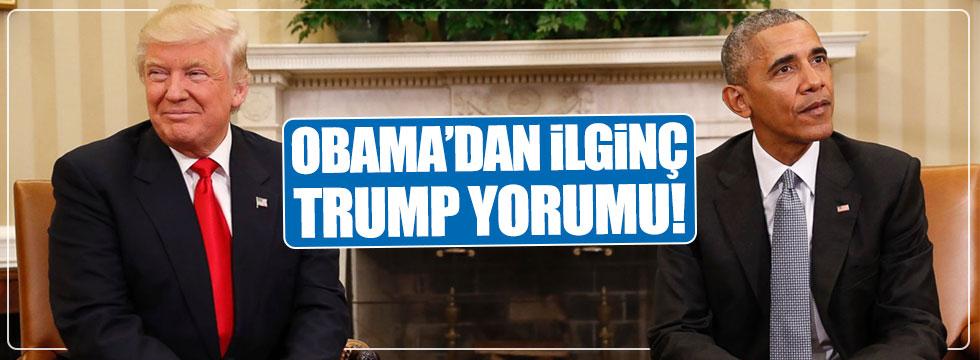 Obama'dan Trump'a ilginç gönderme