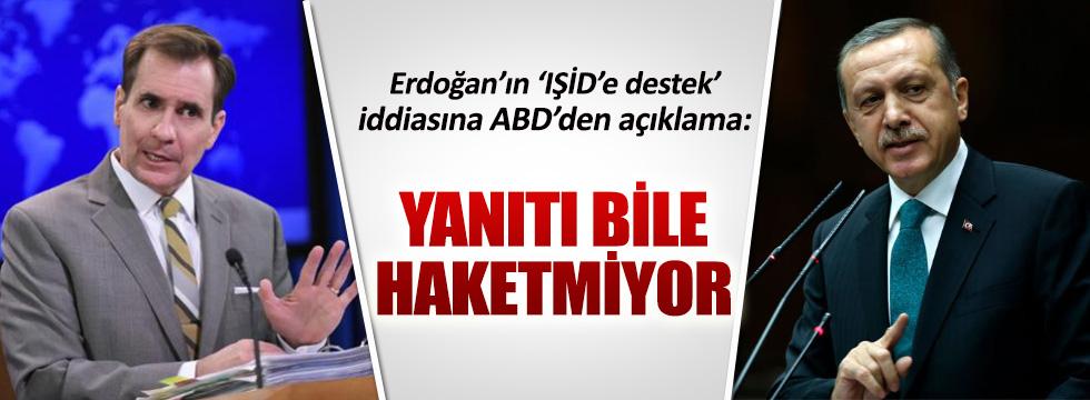 Erdoğan'ın iddiasına ABD'den yanıt geldi