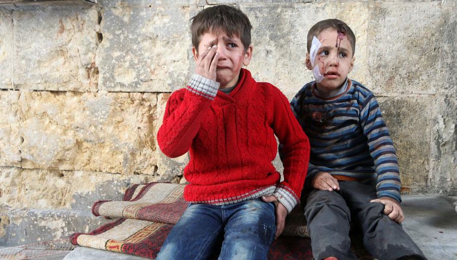 Halep'te son 2 yılın en yoğun bombardımanı