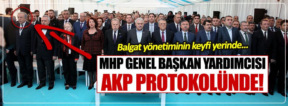 MHP Genel Başkan Yardımcısı Celal Adan AKP protokolünde