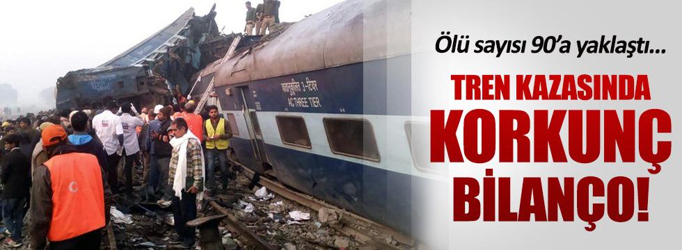 Hindistan'da tren kazası! En az 90 ölü
