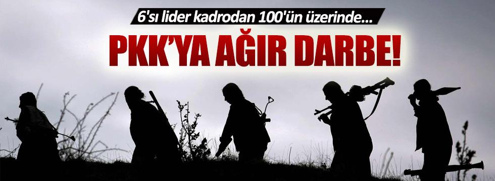 Tunceli'de 6'sı lider kadrodan 100'ün üzerinde PKK'lı öldürüldü