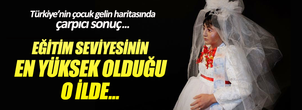 Türkiye'nin çocuk gelin haritasında çarpıcı sonuç!