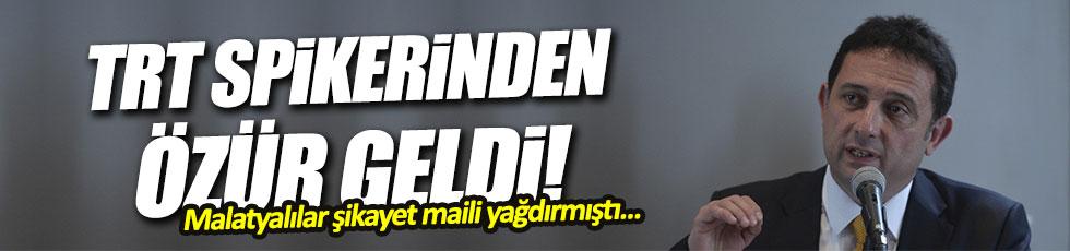TRT spikeri Kerem Öncel, Malatyalılardan özür diledi