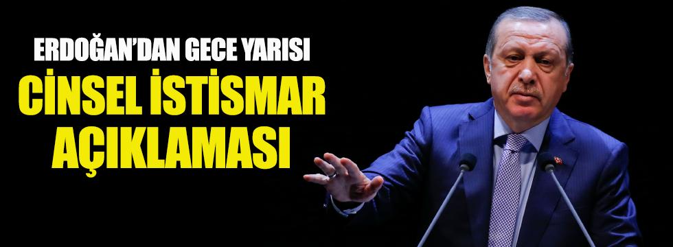 Erdoğan'dan 'cinsel istismar' açıklaması