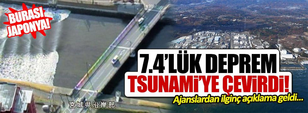 Japonya'da deprem tsunamiye çevirdi