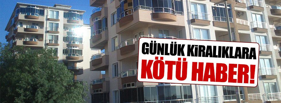 Günlük kiralık daireler için yeni kanun çıkarıldı