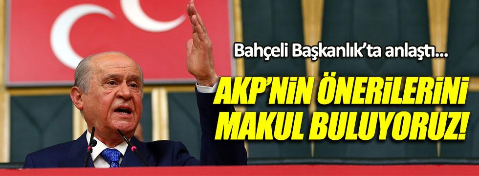 Bahçeli: AKP'nin değişiklik önerilerini makul buluyoruz