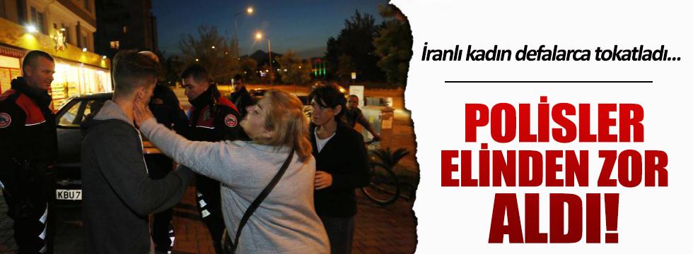 İranlı turist kaza yapan oğlunu defalarca tokatladı