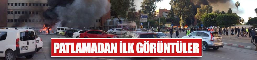 Adana'da patlama! İlk fotoğraflar geldi