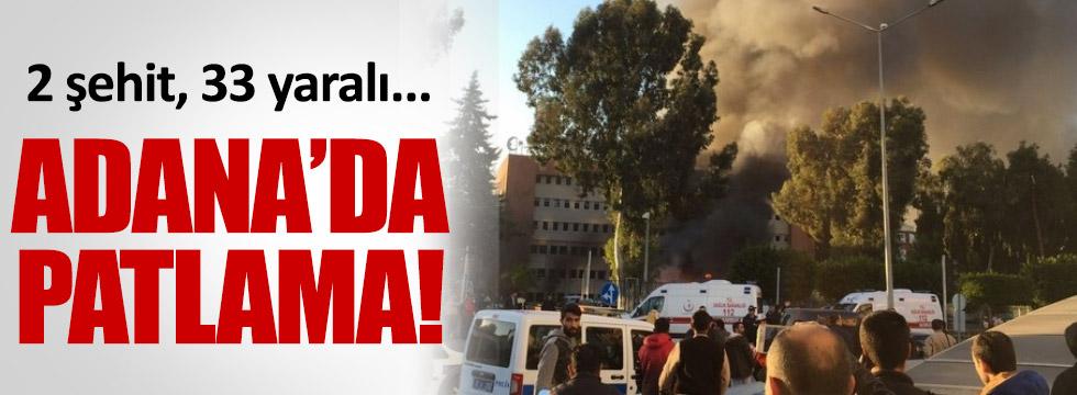 Adana Valiliği önünde patlama! 2 şehit 33 yaralı